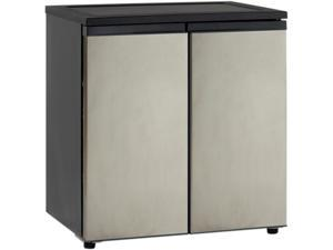 Avanti RMS551SS 5.5 Cu. Ft. Side by Side Refrigerator/Freezer, Black w/Stainless Steel Doors