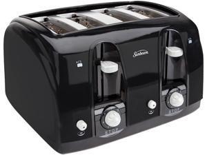 Sunbeam Extra Wide Slot 4-Slice Toaster, Black (3911100000)