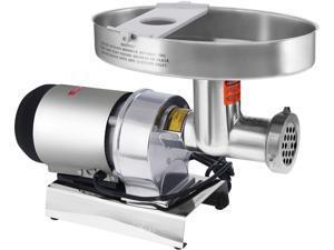 WestonSupply 09-2201-W Silver Butcher Series #22 Meat Grinder - 1 HP