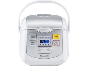 Panasonic SR-ZC075W Silver/White 4 Cups (uncooked) Microcomputer Controlled Rice Cooker - White / Silver