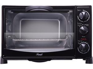 Rosewill 6 Slice Toaster Oven Countertop, Large Capacity for 12 Inch Pizza with Bakeware Pan Broiler Rack RHTO-13001