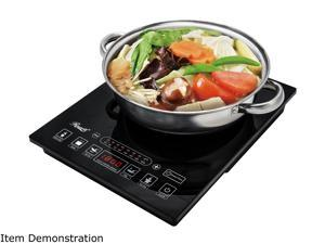 "Rosewill Induction Cooker 1800-Watt, 5 Pre-Programmed Induction Cooktop, Electric Burner with Stainless Steel Pot 10"" 3.5 QT 18-8, RHAI-15001"