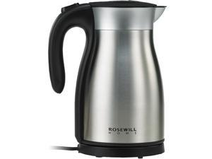 Rosewill RHKT-17001 1500W Stainless Steel Double Wall Vacuum Insulated Electric Kettle, Keep Hot Thermal Pot, 1.7 L