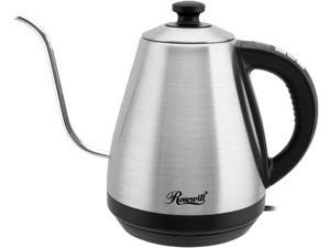 Rosewill RHKT-17002 1-Liter Electric Gooseneck Kettle Water Boiler with Variable Temperature Control Precise Spout 1000W Quick Heating for Pour Over Coffee and Tea, Stainless Steel