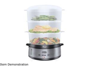 Rosewill 3-Tier Digital Food Steamer | 9.5-Quart (9L), 800W | 24 Hour Cooking Delay, 90 Minute Timer | Dishwasher Safe | Cook Healthy Foods