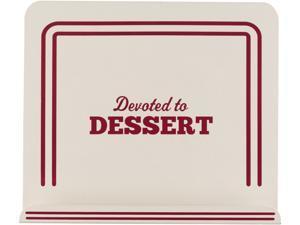 "Cake Boss  59372  Countertop Accessories Metal Cookbook Stand, ""Devoted To Dessert,"" Cream"