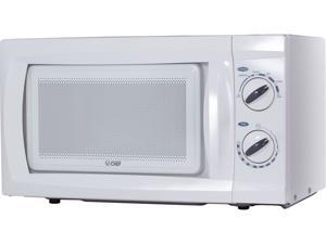Commercial Chef 600 Watts Counter Top Rotary Microwave Oven 0.6 Cubic Feet CHM660W White
