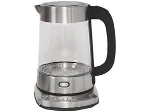 Nesco GWK-03D Electric Glass Water Kettle, 1.8 quart, Stainless Steel