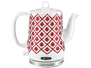 Bella 14102 Red Ceramic Kettle, Red