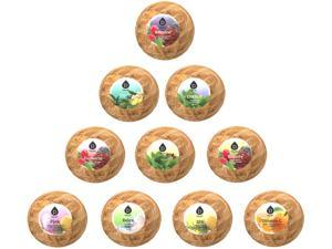 Pursonic Bath Bomb Gift Set 10-Pack Made with Natural