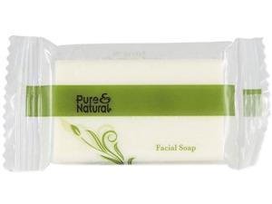 Pure & Natural Body & Facial Soap, # 3/4, Fresh Scent, White 1000/Carton