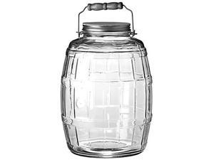 Anchor Hocking 85679 2.5 Gallon Barrel Jar with Brushed Aluminum Lid