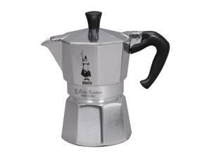 Bialetti 6799 Moka Express 3 Cup Espresso Maker Silver