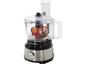 Hamilton Beach 70730 10-Cup Food Processor with Bowl Scraper, Black & Stainless