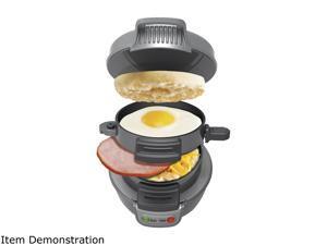 Hamilton Beach Breakfast Sandwich Maker, Gray 25475
