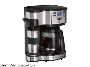 Hamilton Beach 49980A Black 2-Way Single Serve Brewer and Coffee Maker