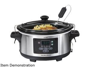 Hamilton Beach 33969 Digital 6 Qt Programmable Slow Cooker Crockpot