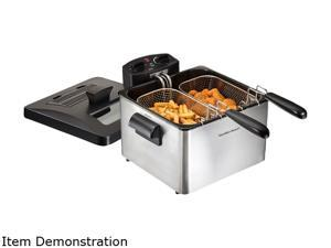 Hamilton Beach 35036 19 Cup Oil Capacity Professional-Style Deep Fryer with 2 Baskets