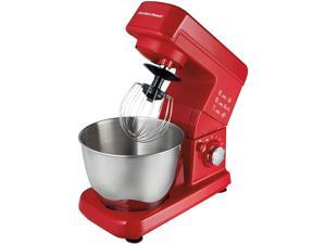 Hamilton Beach 63328 6 Speed 300 Watt Stand Mixer with 3.5 Qt Stainless Steel Bowl, Red