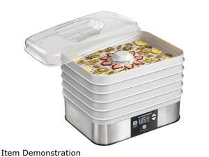 Hamilton Beach 32100 500 Watt 5 Tray Stacking Countertop Food Dehydrator, Gray