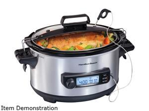 Hamilton Beach 33867 6 Qt. Advanced Temp Tracker Slow Cooker