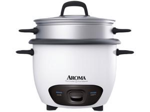 AROMA ARC-747-1NG White 7 Cups (Uncooked)/14 Cups (Cooked) Pot-Style Rice Cooker