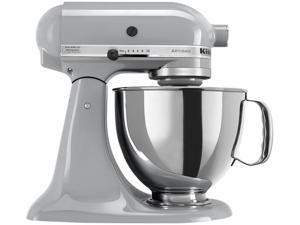 KitchenAid KSM150PSMC Artisan Stand Mixer with Pouring Shield, 5 Quarts, Metallic Chrome