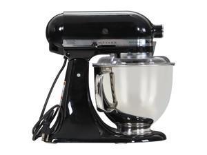 KitchenAid KSM150PSOB Artisan Stand Mixer with Pouring Shield, 5 Quarts, Onyx Black