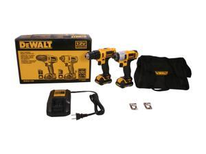 Dewalt DCK211S2 12V MAX Brushed Lithium-Ion 3/8 in. Cordless Drill Driver/ 1/4 in. Impact Driver Combo Kit (1.5 Ah)