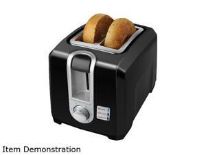 Black & Decker T2569B 2-Slice Toaster, Black