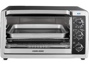 Black & Decker TO1675B 6-Slice Countertop Convection Toaster Oven, Black/Silver