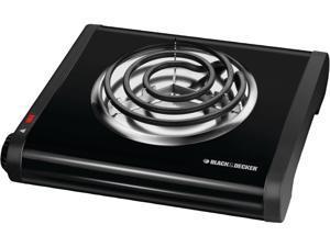 Black & Decker Single Burner Portable Buffet Range SB1001B Black