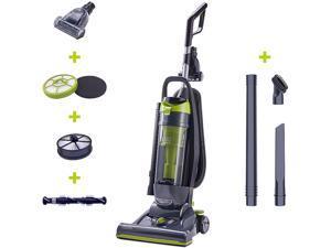 Black & Decker CJ99B Corded Bagless Upright Vacuum with HEPA Filter Titanium Gray / Lime Green