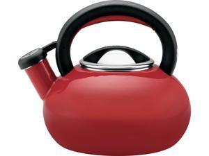 Circulon  56586  Red  1.5-Quart Sunrise Teakettle, Rhubarb Red