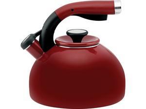 Circulon 56580 Red 2-Quart Morning Bird Teakettle, Rhubarb Red