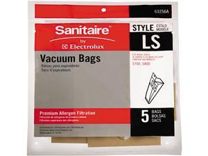 Sanitaire EUR 63256A10CT Commercial Upright Vacuum Cleaner Replacement Bags, Style LS, 5 / Pack, 10 PK / CT