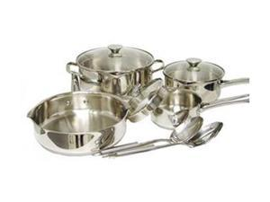 WearEver A834S984 Cook & Strain Stainless Steel 10-Piece Cookware Set