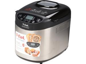 T-fal PF311 ActiBread 15 Programs Bread Machine Stainless Steel Housing Nonstick Coating Automatic Bread Maker with LCD Display, 700-watt, Silver