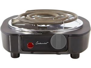Continental Electric Single Burner, Black CE23309