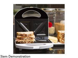 Continental Electric 2-Slice Sandwich Maker, White CE23831