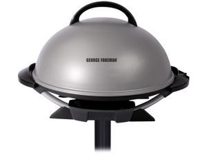 George Foreman GFO240S 15-Serving Indoor/Outdoor Electric Grill, Silver