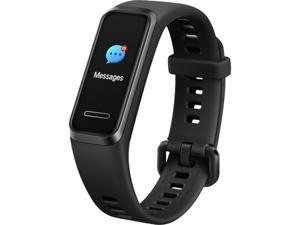 "HUAWEI Band 4, Graphite Black, 0.96"" TFT color screen resolution: 160 x 80 dpi, 9 Day Battery Life, 5 ATM, GPS (Canada Warranty)"