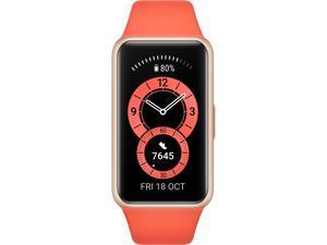 HUAWEI 55026636 Band 6, 2-week Battery, 1.47'' AMOLED Touch Screen, Heart Rate Monitoring, Amber Sunrise