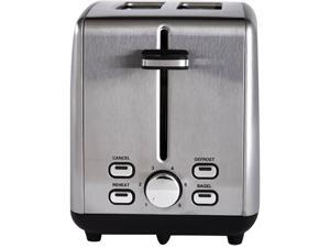 Continental Electric 2-Slice Extra Wide Slot Toaster, Stainless Steel PS77411