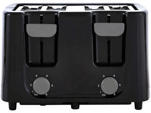 Continental Electric 4-Slice Extra Wide Slot Toaster, Black CE-TT029