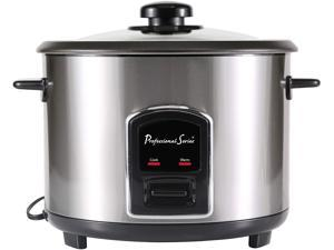 Continental Electric 12 Cup Rice Cooker, Stainless Steel PS75068