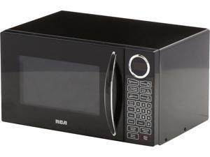 RCA 900 Watts 0.9 Cu Ft Countertop Microwave (Black Door) RMW953-BLACK