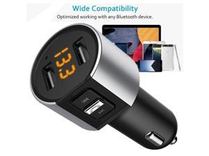 Bluetooth FM Transmitter Wireless In Car MP3 Player Bluetooth Car Kit FM Radio Transmitter Modulator Dual USB Charger Port