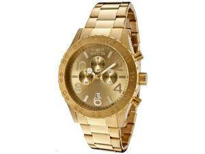 Invicta 1270 Men's Specialty Chronograph 18K Gold Plated Steel Watch