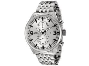 Invicta 0366 Men's Specialty Stainless Steel Silver-Tone Dial Watch